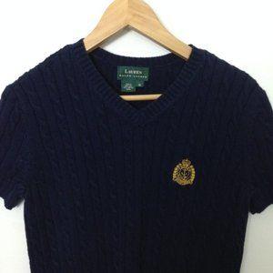 LAUREN RALPH LAUREN Women Cotton M Cable Sweater